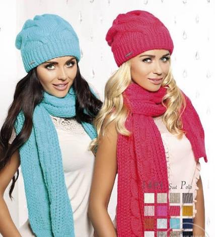 Красивый оригинальный теплый вязаный шарфик Polo Pawonex., фото 2
