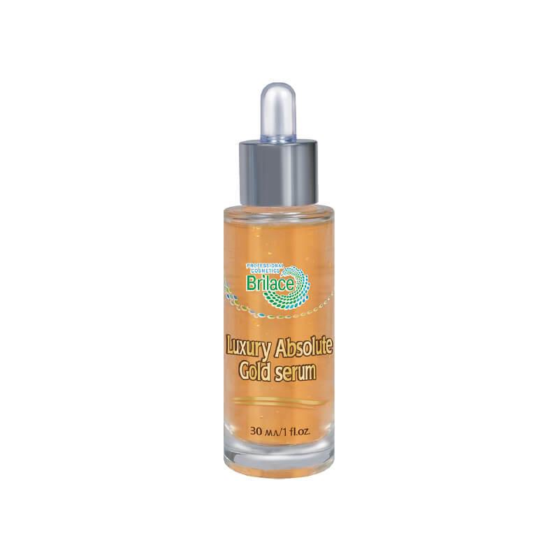 Luxury Absolute gold serum сыворотка с 24 каратами золота Brilace 30ml