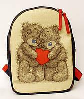 Детский джинсовый рюкзак мишки тэдди
