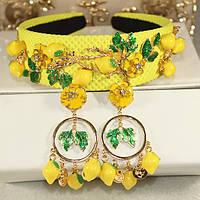 Набор серьги и ободок в Dolce&Gabbana_лимончик, фото 1
