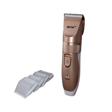 Аккумуляторная машинка для стрижки волос. Машинка для стрижки Gemei GM 797, регулируемая длина среза., фото 2