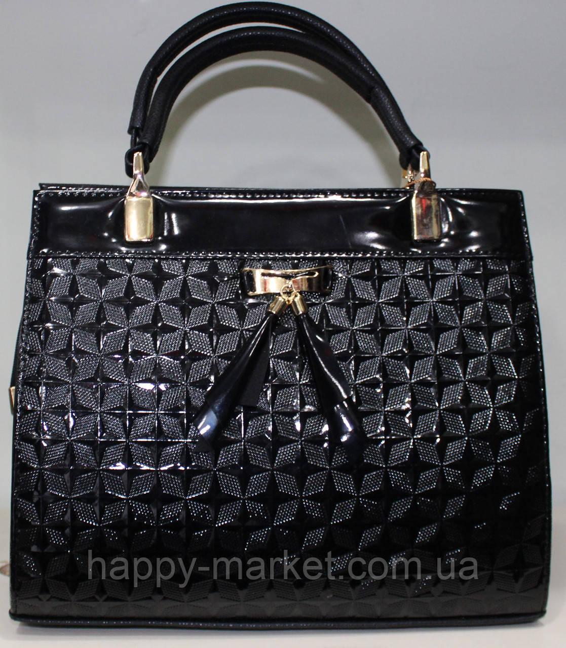 Сумка стильная Женская лакированная 17-0616-4