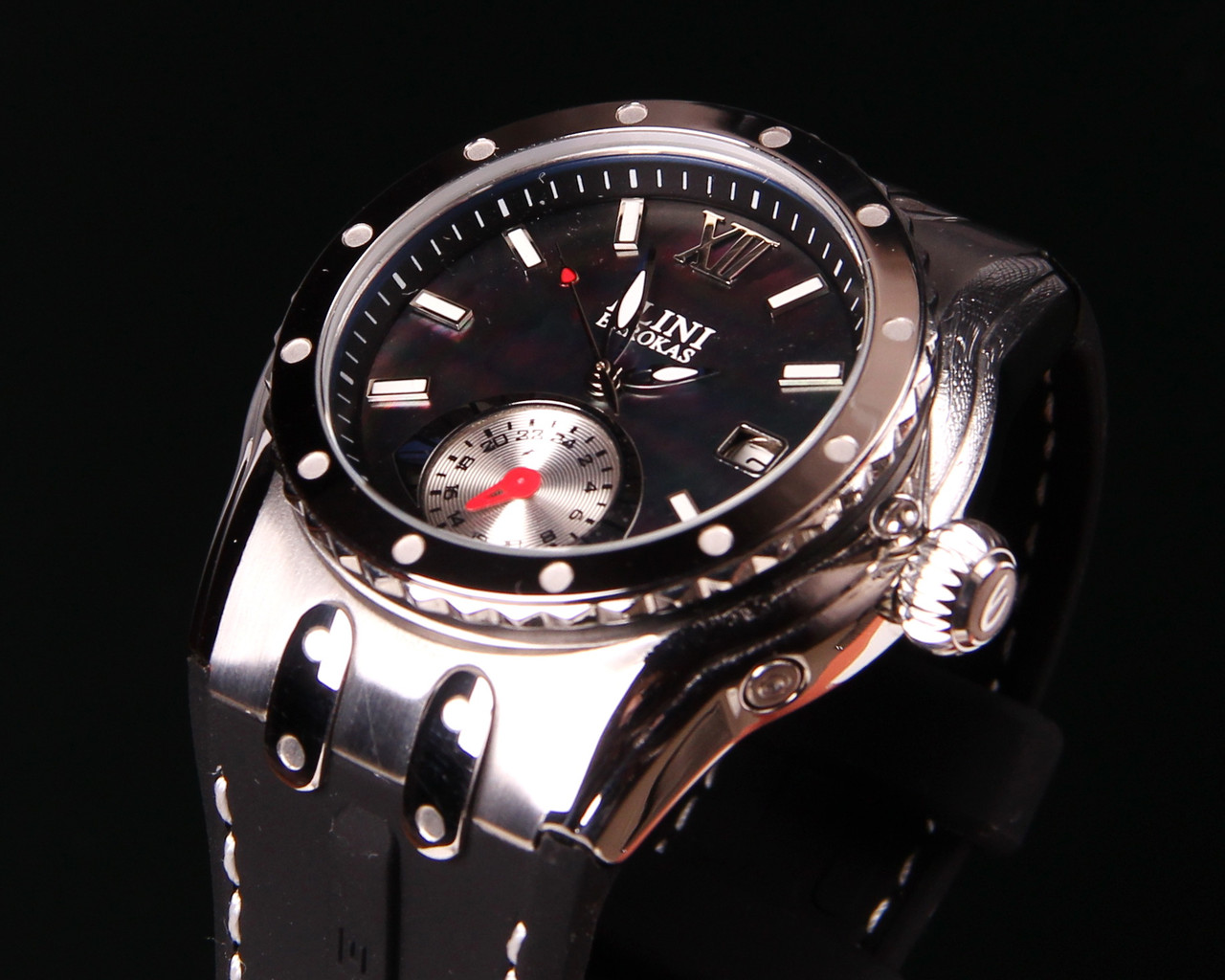 Женские часы Elini Barokas Genesis Black Dial