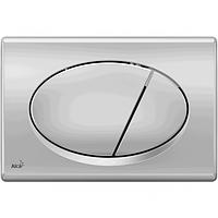 Кнопка управления для инсталяции хром-матовая M72, Alcaplast (Чехия)