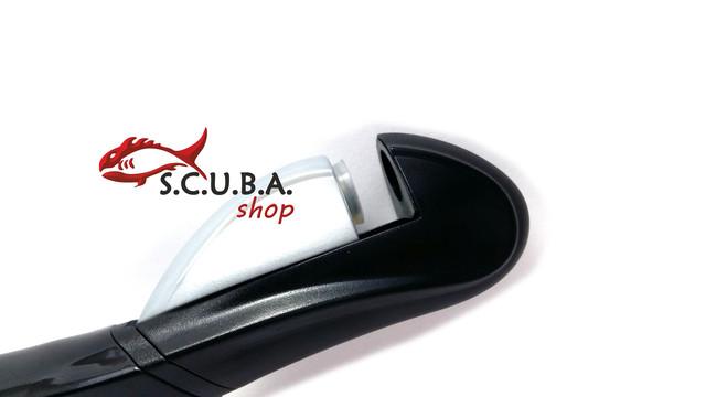 Трубка DOLVOR Cobra для плавания с клапаном и фритопом, цвет черный