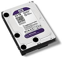 """Жесткий диск 3.5"""" 2Tb Western Digital Purple, SATA3, 64Mb, IntelliPower (WD20PURX) для систем наблюдения с уникальной технологией AllFrame"""