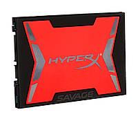 "Твердотельный накопитель 240Gb, Kingston HyperX Savage, SATA3, 2.5"", MLC, 560/530 MB/s (SHSS37A/240G)"