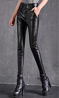 Женские кожаные штаны. Модель 2101, фото 2
