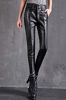 Женские кожаные штаны. Модель 2101, фото 3