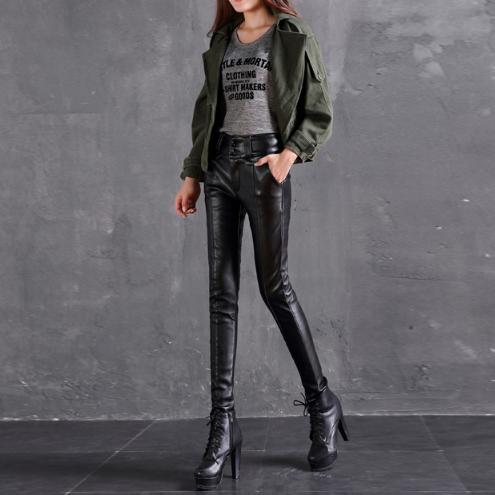 Женские кожаные штаны. Модель 2101
