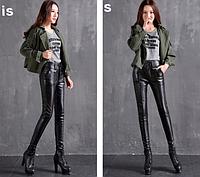 Женские кожаные штаны. Модель 2101, фото 5