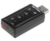 Звуковая карта USB 2.0, 7.1, 3D Sound, OEM