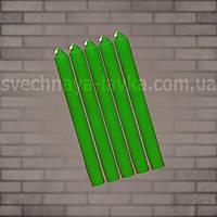Свеча зеленая восковая 2,8см х 25см
