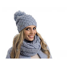 Красивый оригинальный теплый зимний вязаный шарфик Польша., фото 3