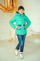 Куртка для девочки на весну с поясом