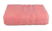 Полотенце махровое Индия 68х128 розовое 400 г/м²