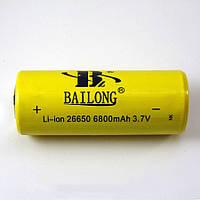 Аккумуляторная литий-ионная батарея Bailong BL 26650 6800 mAh 3.7V