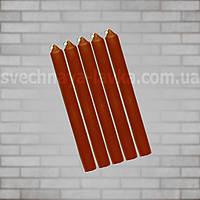 Свечи коричневые восковые 2,8см х 25см