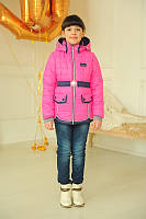 Курточка для девочки с поясом