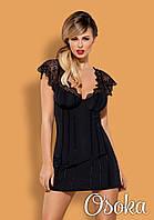 Сексуальная приталенная сорочка с кружевом Obsessive (Обсессив) Maketta chemise