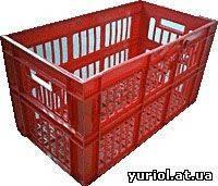 Ящик пластмассовый 660*360*366 перфорированный