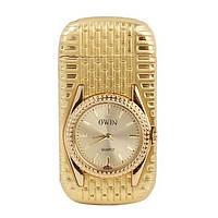 Зажигалка часы, золотая