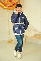 Курточка с поясом для девочки