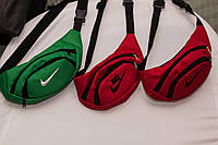 Поясна сумка Nike, найк красная бананка без лого