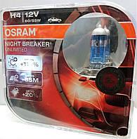 Лампа галогеновая 12 вольт.Osram Night Breaker Unlimited H4 60/55W  +110%