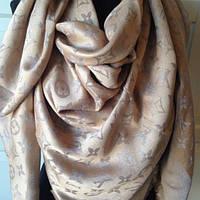 Платок/шаль Louis Vuitton (Люрекс-Shine) Monogram 🔥 Бежевый