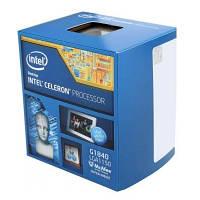Процессор Intel Celeron (LGA1150) G1840, Box, 2x2,8 GHz, HD Graphic (1050 MHz), L3 2Mb, Haswell, 22 nm, TDP 53W (BX80646G1840)