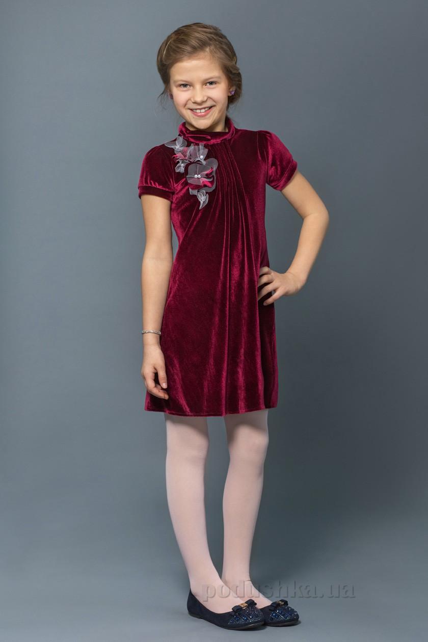 80d756d8909819b Платье Нарядное для Девочки Модный Карапуз 03-00547 Бордовое 122 — в ...