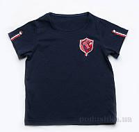 Футболка для мальчика Модный Карапуз 03-00516 синяя 104