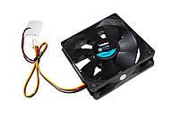 Вентилятор 80 mm Merlion 8025 DC sleeve fan 3pin + 4pin - 80*80*25мм, 1500об/мин