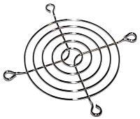 Решетка для вентиляторов 80mm, Merlion Silver