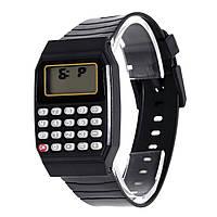 Детские наручные часы с калькулятором Black