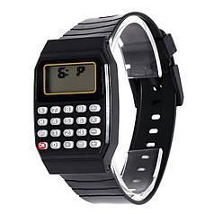 Дитячі наручний годинник з калькулятором Black
