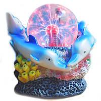 """Плазменный шар """"Дельфины"""" 10 см, Jiadagongyi N4-D-ABCD"""