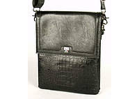 Мужская сумка Bradford 18773-1 искусственная кожа наплечный ремень три отдела 18см х 21см х 5см Черный, фото 1