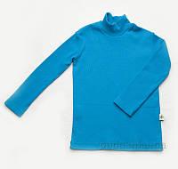Гольфик для мальчика рубчик Модный Карапуз 03-00615 бирюзовый 86