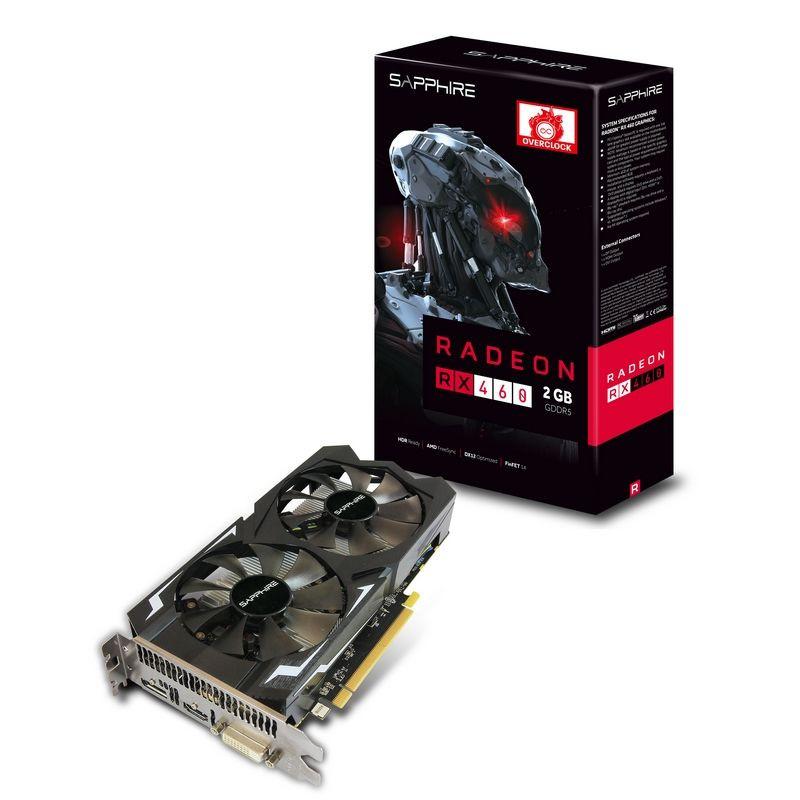 """Видеокарта Sapphire Radeon RX 460 2G D5 (11257-00)  """"Over-Stock"""" Б/У"""