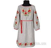 Вышитое платье с поясом для девочки Маки Гармония 110