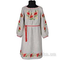 Вышитое платье с поясом для девочки Маки Гармония 92