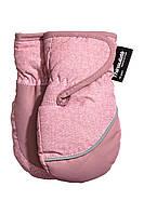 Детские зимние варежки для девочки  6-12 месяцев
