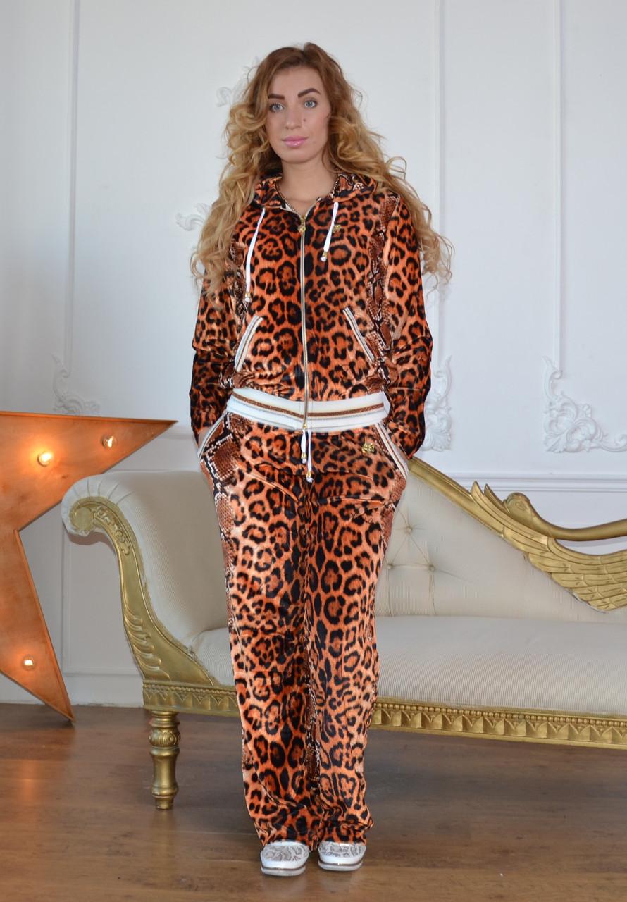 """Жіночий велюровий турецький костюм """"Roberto Cavalli"""" зі стразами ; розм 42,44,46,48,50"""