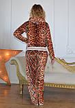 """Жіночий велюровий турецький костюм """"Roberto Cavalli"""" зі стразами ; розм 42,44,46,48,50, фото 2"""