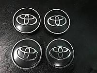 Toyota Yaris 2012+ гг. Колпачки в титановые диски V2, 55мм (4 шт)