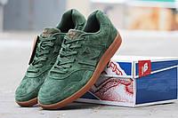 Мужские кроссовки NEW  BALANCE, натуральная замша, зеленые / замшевые кроссовки мужские Нью Беланс, стильные
