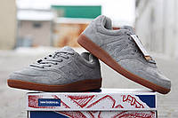 Мужские кроссовки NEW  BALANCE, натуральная замша, серые / кроссовки мужские Нью Беланс, модные
