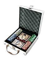 Набор покера на 100 фишек без номинала в алюминиевом кейсе